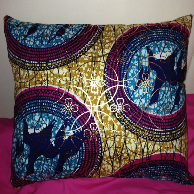A favorite..Shop  @ www.etsy.com/uk/shop/HadiyahEsmie #Think #Gold #Pink #Blue #Yellow #Love #HadiyahEsmie #CushionCovers #Africa #Ankara #WaxPrint #AfricanPrints #Home #Homedecor #Life #Amazing #Pillows #Pillowcases #Interior #Inspire #Fashion #African #Bed  #Handmade #Custommade #Original #Gifts #Presents #Shop #Online #Etsy #Cushions