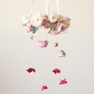 How To DIY Flower Chandelier