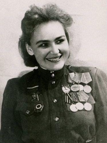 Female Soviet soldier
