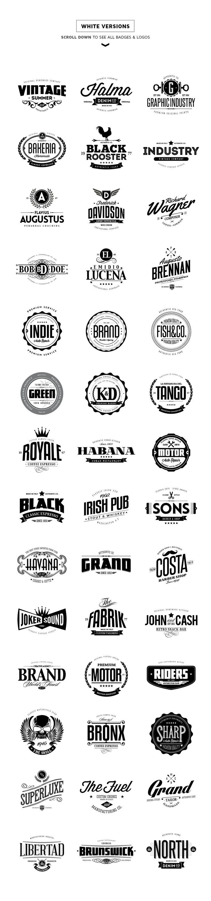 40% Off - 42 Badges & Logos Bundle by Easybrandz on @creativemarket
