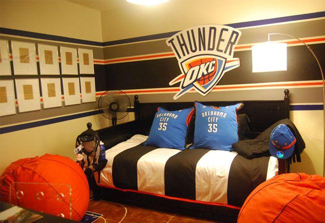 44 Best Okc Thunder Bedroom Images On Pinterest Child
