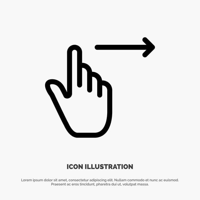 Finger Gestures Right Slide Swipe Line Icon Vector Line Icons Application Arrow Png And Vector With Transparent Background For Free Download In 2021 Line Icon Vector Creative Advertising