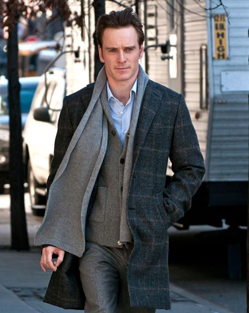 Love layered look with scarfMen Clothing, Michael Fassbender, Fabulous Fassbender, Men Style, Stylish Clothing, Fassbender Forever, Men Fashion, Men Apparel, Men Outfit