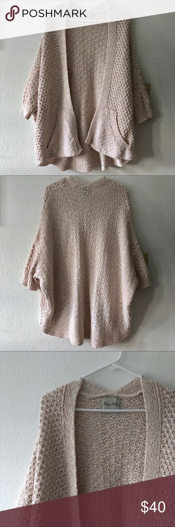Zara Knit Open Shawl Cardigan • Baby pink colour • Dolman sleeve • Hangs open, no closure • Loose, relaxed fit (will fit Size S - L) • Has hand pockets • Beautiful intricate knit  • Excellent condition! • No damages Zara Sweaters Cardigans