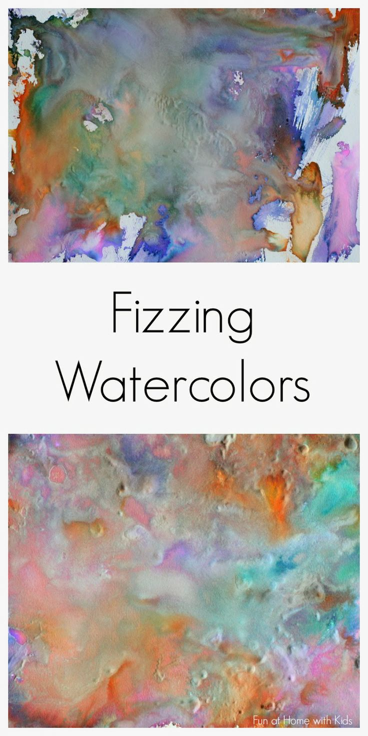 Fizzing Watercolors from Fun at Home with Kids