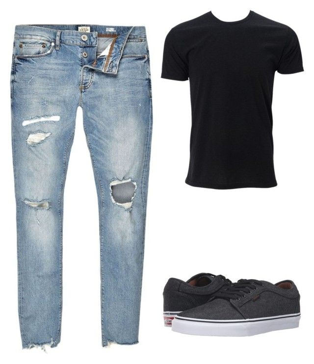 natural by luziagalvang on Polyvore featuring River Island, Vans, men's fashion and menswear