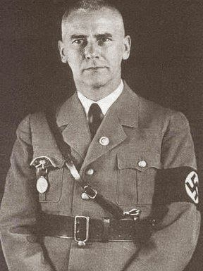 Friedrich Fromm, is shot by a firing squad for his part in the July plot to assassinate the Fuhrer.