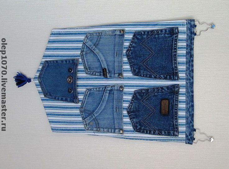 Настенные джинсовые карманы. Handmade.