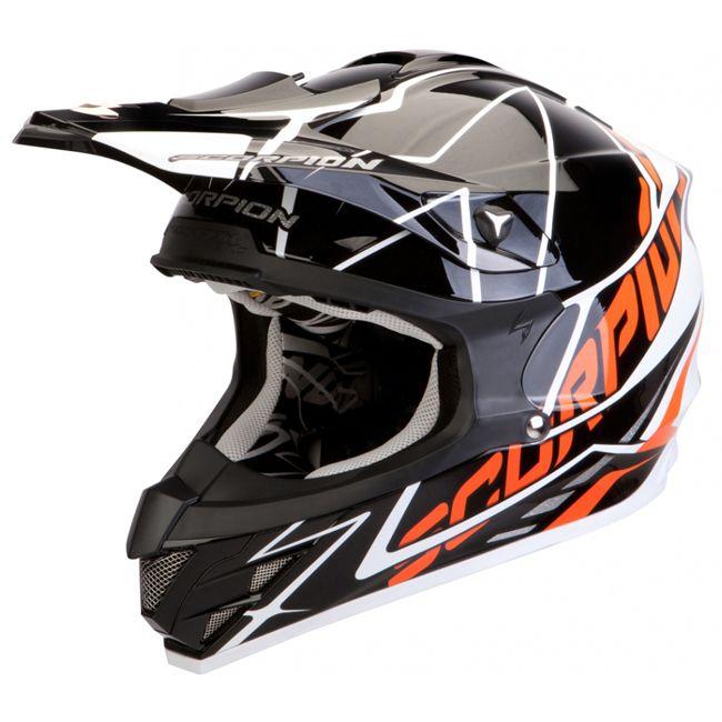 Casque integral motocross scorpion vx 15 air sprint noir blanc orange. http://www.fxmotors.fr/fr/accueil/equipements-motocross/casques/casque-cross-scorpion-exo-vx-15-air-sprint-noir-blanc-orange