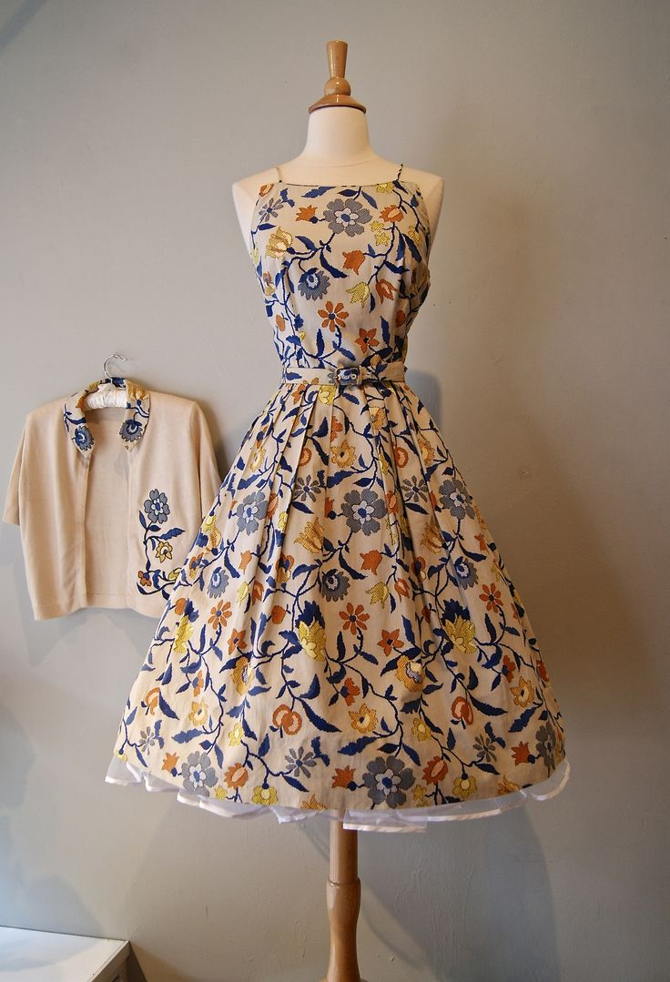 vintage dress / 1950s dress by Adele Martin / available at Xtabay.