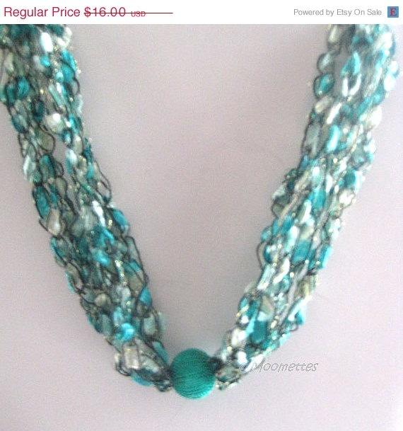 Mint Green Crochet Necklace #handmade #jewelry by ...