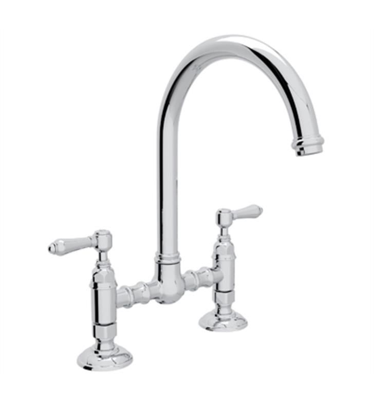 Rohl A1461 Country Kitchen 8 1 2 Deck Mounted C Spout Bridge