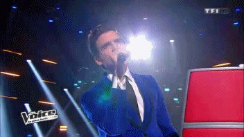 ANIMATED GIF Mika on The Voice (11/01/2014)
