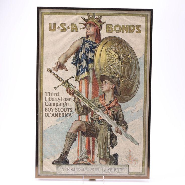 World War I era war bonds poster, featuring the art of Joseph Christian Leyendecker.