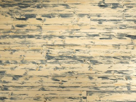 ELEMENTs Galleria Spruce hacked H1 blue by Admonter | Wood panels / Wood fibre panels
