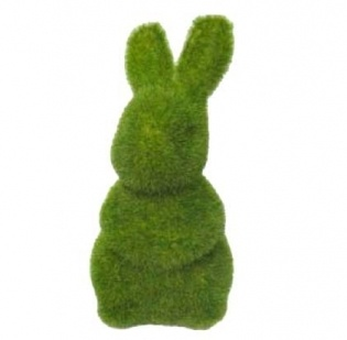 moss bunnies ready for Easter avaialble at Little Paper Lane