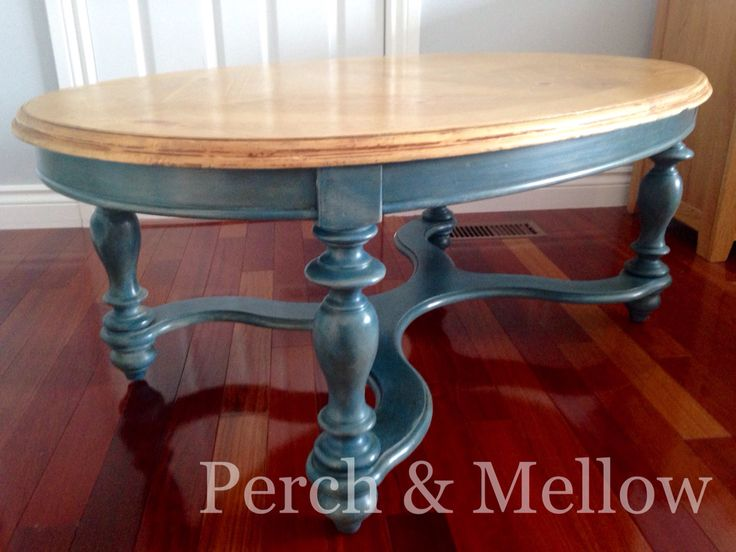 Aubusson blue, French linen and clear and dark wax