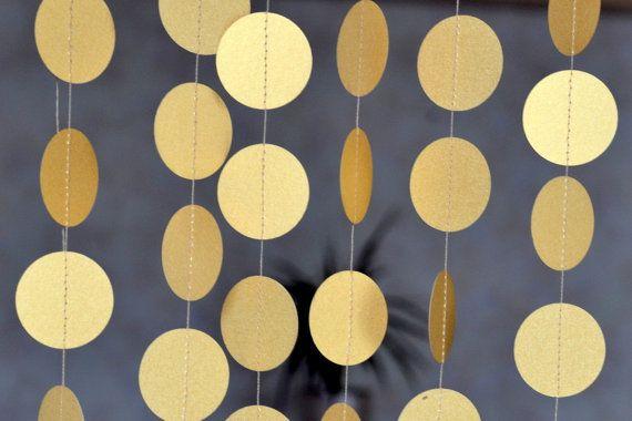Weihnachtsgirlande die Gold Circle Girlande von HappyHolidayDecor