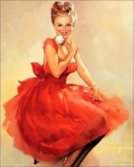 Red Pin-up