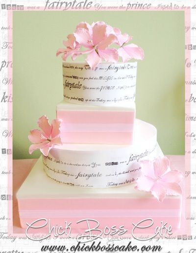Pretty Pink Love Song Wedding Cake (Taylor Swift- fairytale) Gallery - Chick Boss Cake