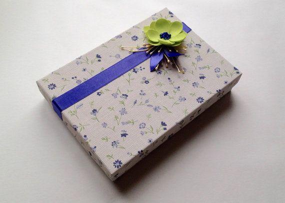 Gift box, Handmade gift box, Cardboard box, Floral print box, Box with lid, Jewelry box, Wedding display box, Jewelry display box, Handmade