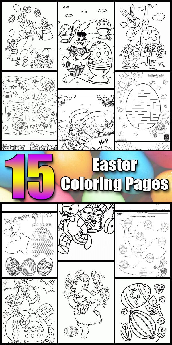 15 Printable Easter Coloring Pages Holiday Vault Easter Coloring Pages Holiday Easter Colouring