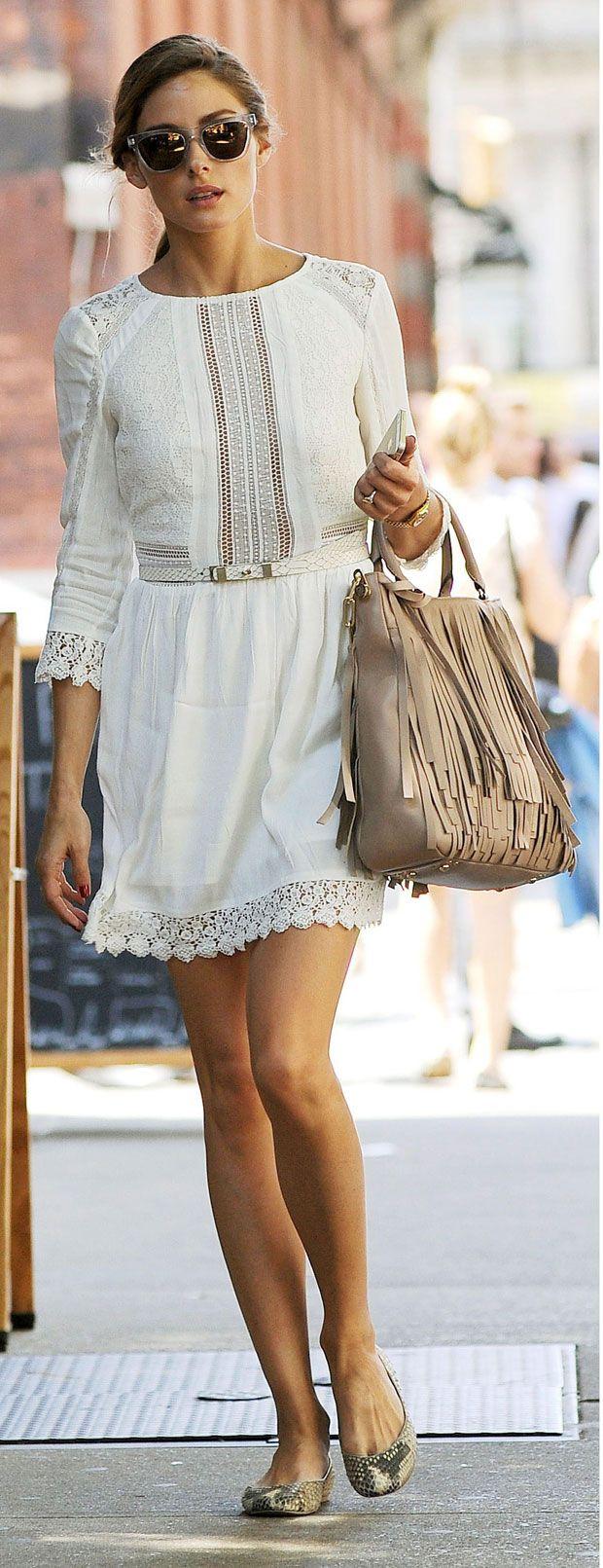 Olivia Palermo. White
