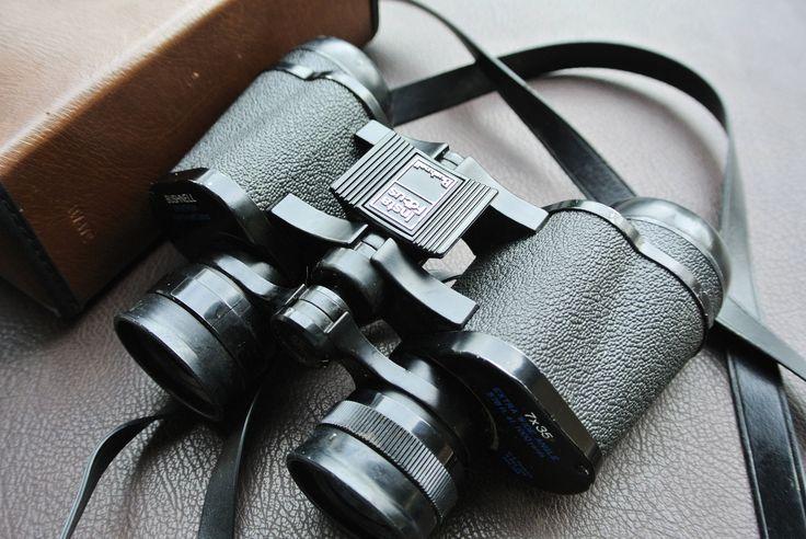 Bushnell Binoculars, 7x 35 Bushnell Binoculars, Insta Focus Binoculars, Binoculars with Case, Bird Watching, Camping, Hunting by DomesticTitanVintage on Etsy