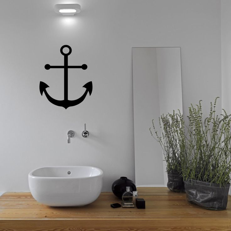 L'ancre Sticker Mural salle de bain ancrage Wall Decal par Mirrorin