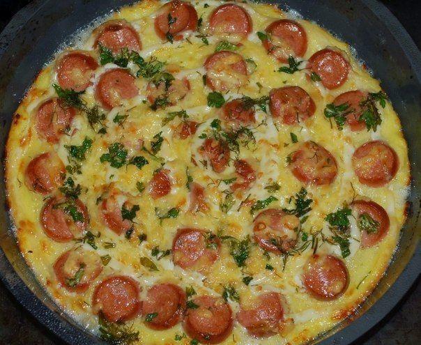 Самые вкусные рецепты: Запеканка из картофеля с сосисками