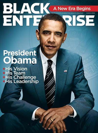Historic Black Enterprise Magazine Covers: Pres Obama, March 2009