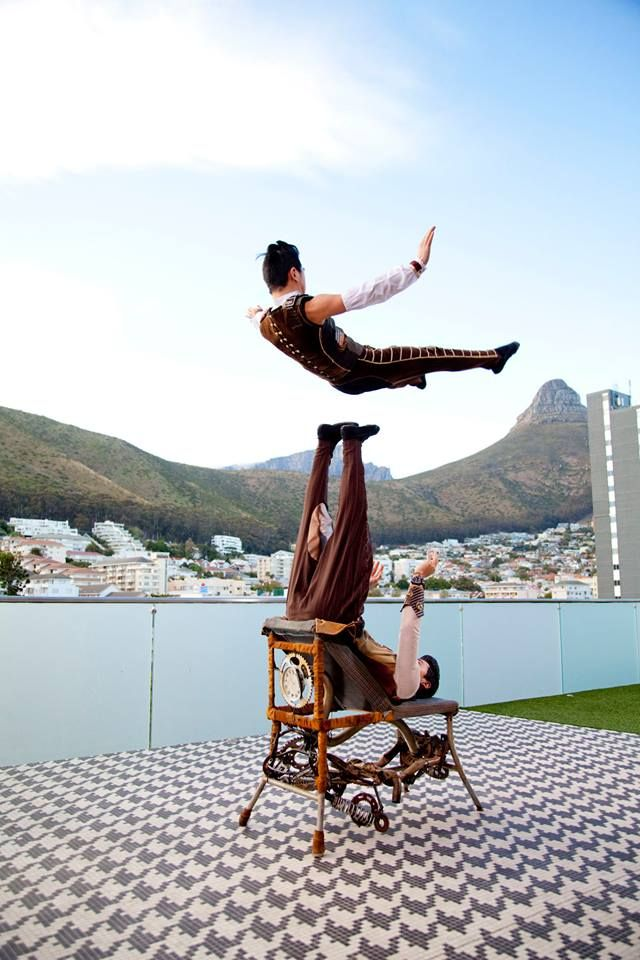 #MadameZingara-Two talented individuals from Mongolia bring back tradition to this year's Miracle Tour with a rare and unique human foot juggling act. The act is an explosive form of art, transforming the human body into a catapult and catcher.
