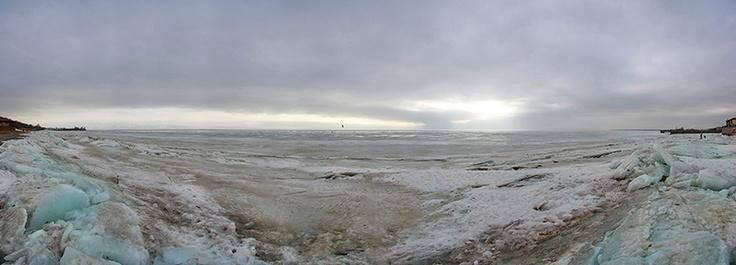 Frozen Volga Panorama
