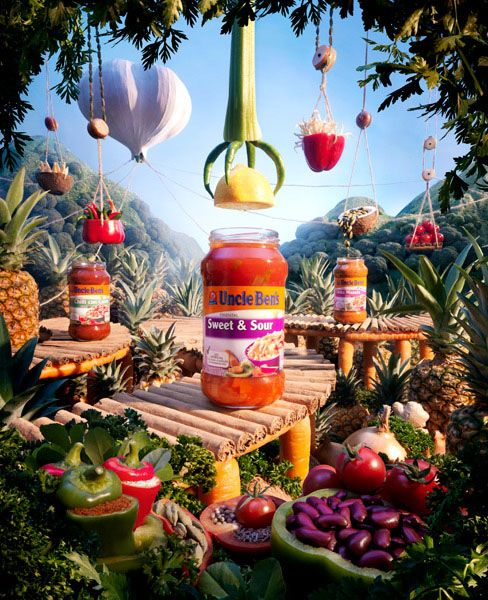 25 Mind-Blowing Foodscape Advertisements by Carl Warner