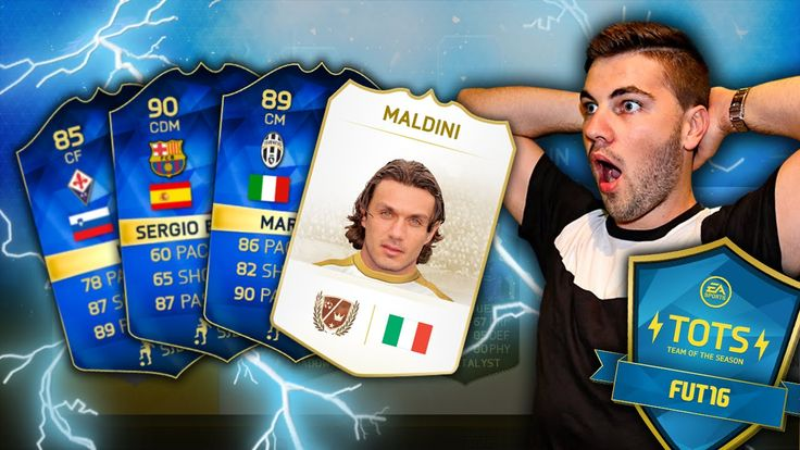 OMG I GOT 3 TOTS AND LEGEND MALDINI!!! FIFA 16 TEAM OF THE SEASON FUT DR...