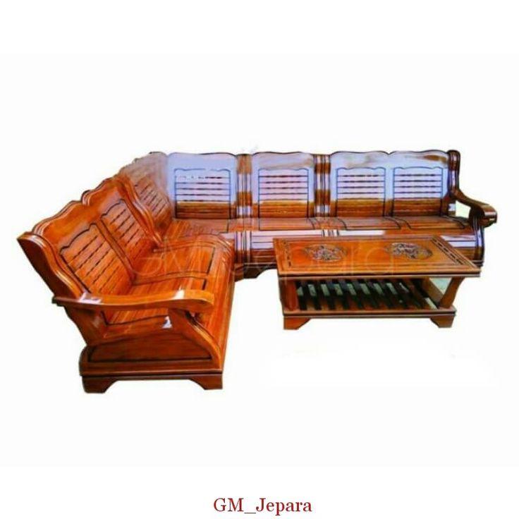 Kursi Sudut Minimalis Gajah, kursi sudut kayu, kursi sudut kayu jati, kursi sudut jati, kursi sudut jepara, kursi sudut kayu minimalis, kursi sudut mahkota