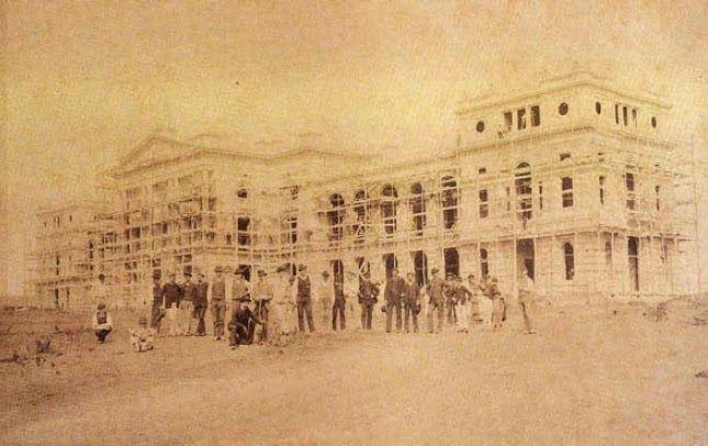 Construção do Museu do Ipiranga  Ano: 1888  Autor: desconhecido