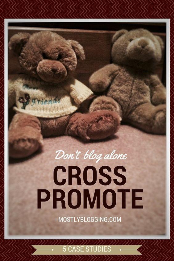 Use cross promotion to get help online #blogging #marketing