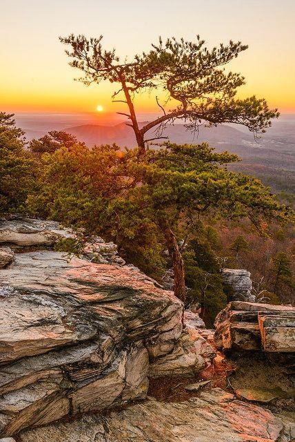 Hanging Rock State park, North Carolina