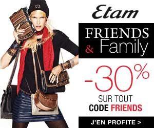Opération Friends & Family chez Etam : -30% sur tout le site grâce à un code promo | Maxi Bons Plans