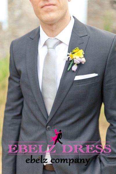 2015 New Brand Summer Style Grey Formal Roupa De Noivo Tuxedo Mens Suits Wedding…