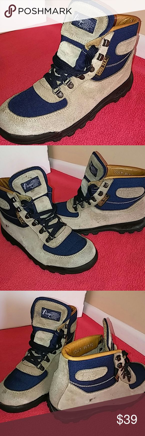 Gore-Tex Vasque Boot..SZ 8.5 MEN &10 &10.5 WOMEN Shoes shows signs of use but in fabulous shape and condition. Worn at least between 10-15 times and rated 7.9/10... Needs just light cleaning. Leather and soles in excellent shape. Soles looks perfectly like new and uppers in awesome shape...just little tiny scuffs. Vasque Shoes Boots