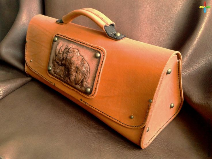 """Кожаная женская сумка """"Апельсиновый носорог"""", телячья кожа, тисненая кожа, натуральная кожа   Bestmade - изделия ручной работы"""