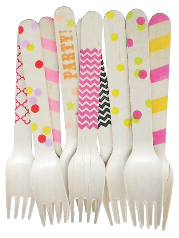 One Kings Lane - The Sweet Shop - Asst of 40 Wooden Forks