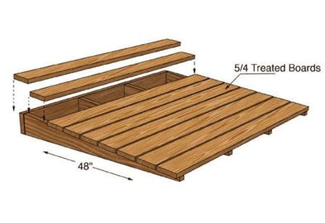 4 Foot Wide Wood Ramp In 2019 Greenhouse Shed Ramp
