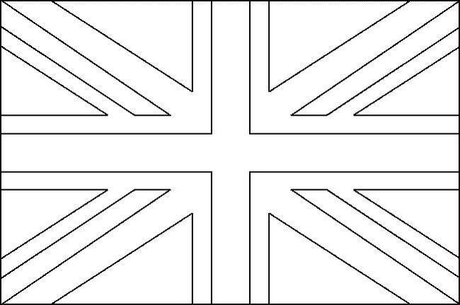 Ausmalbilder England   Flag coloring pages, Uk flag ...