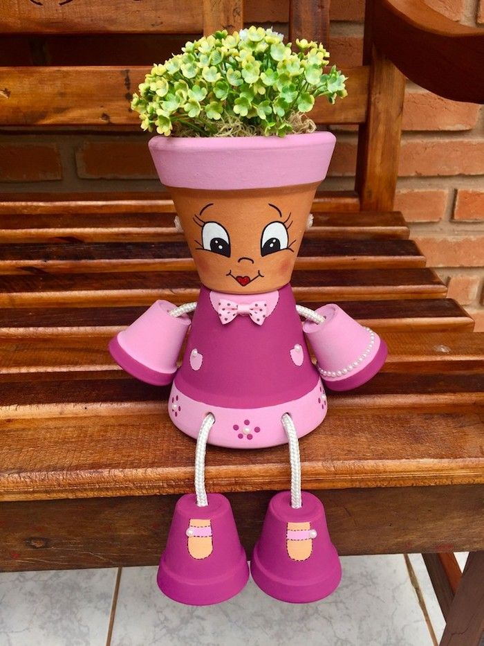 Fabriquer Des Personnages Avec Des Pots De Fleurs : fabriquer, personnages, fleurs, Activités, Printemps, Réaliser, Déco, Fleur, Originale, Fleurs, Décorés,, Fleurs,, Terre, Cuite