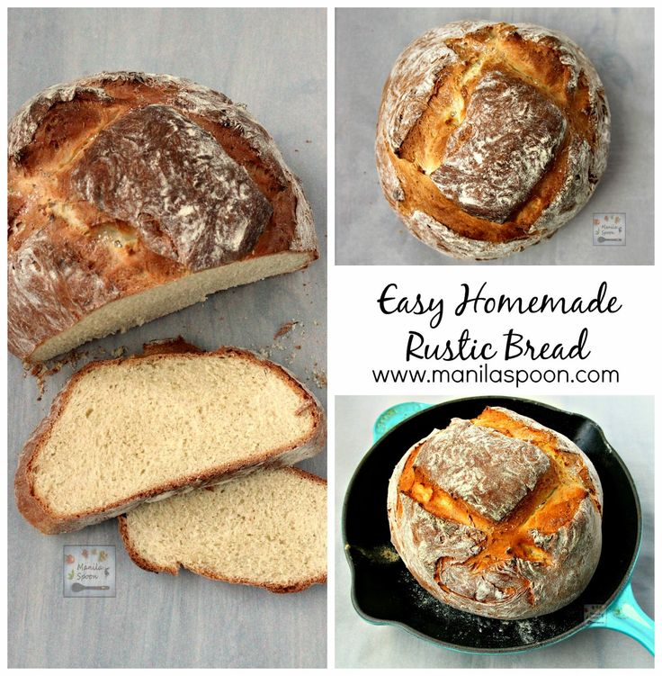 An easy and delicious recipe for homemade rustic bread even for the most inexperienced baker. #easy #homemade #rustic #bread