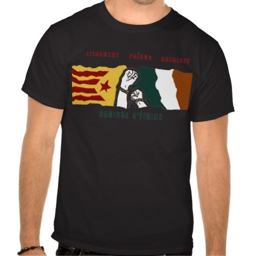 Freedom for irish and catalan countries mural t shirt for Murals on the t shirt