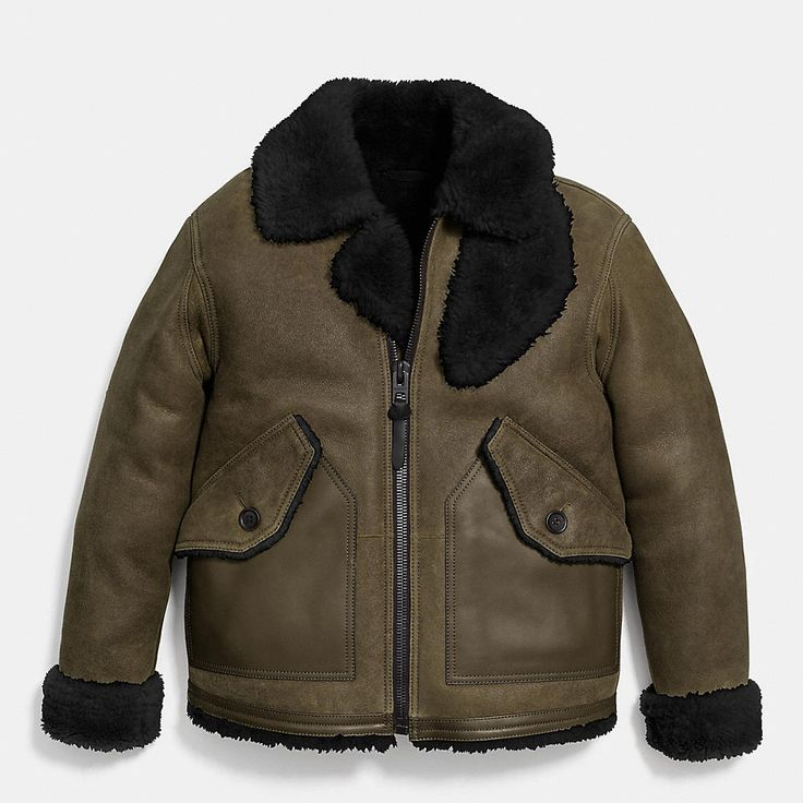 Shearling B3 Bomber Jacket in military